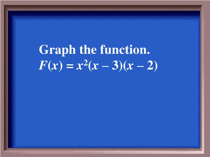 Graph the function.