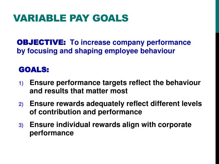 Variable Pay goals