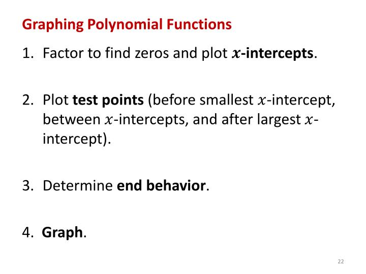 Graphing Polynomial