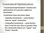 constained optimization