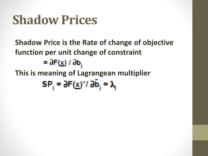 Shadow Prices