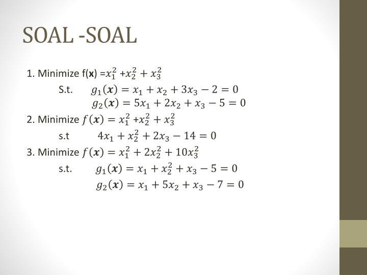 SOAL -SOAL