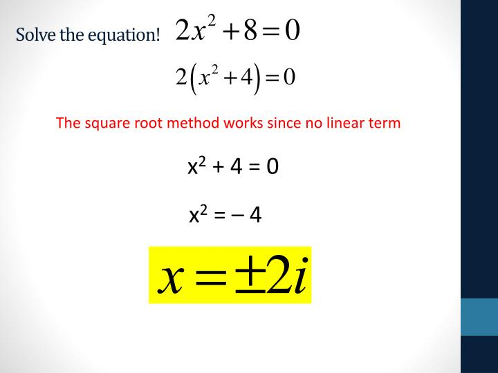 Solve the equation!