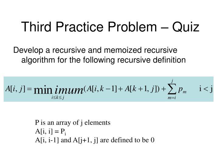 Third Practice Problem – Quiz
