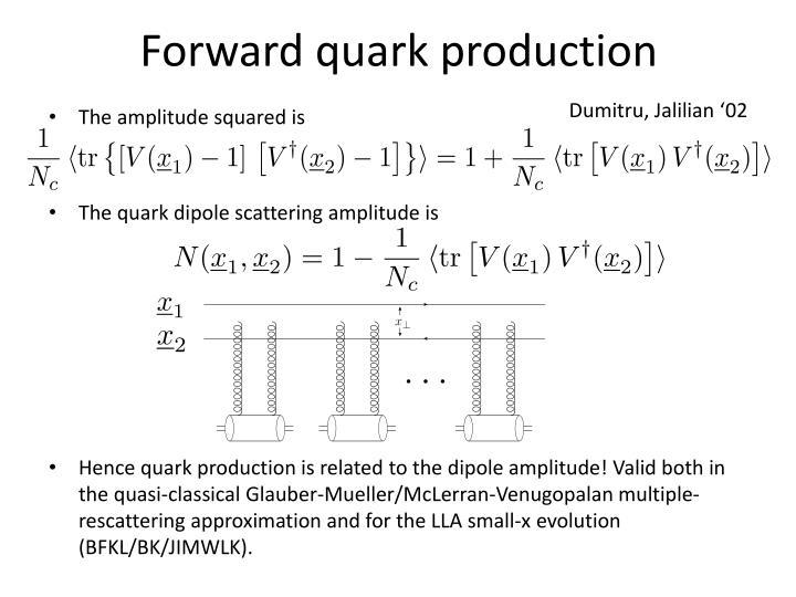 Forward quark production
