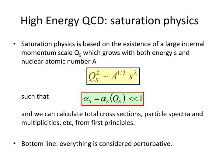 High Energy QCD: