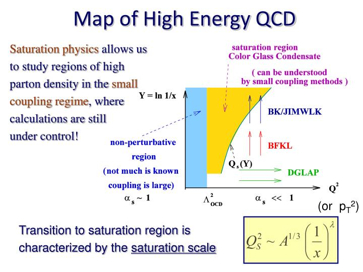 Map of High Energy QCD