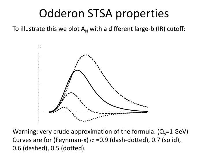 Odderon STSA properties