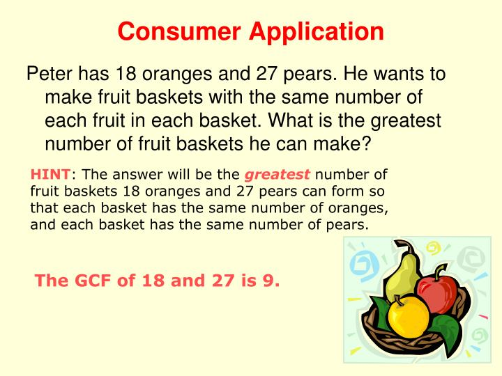 Consumer Application