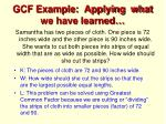 gcf example applying what we have learned