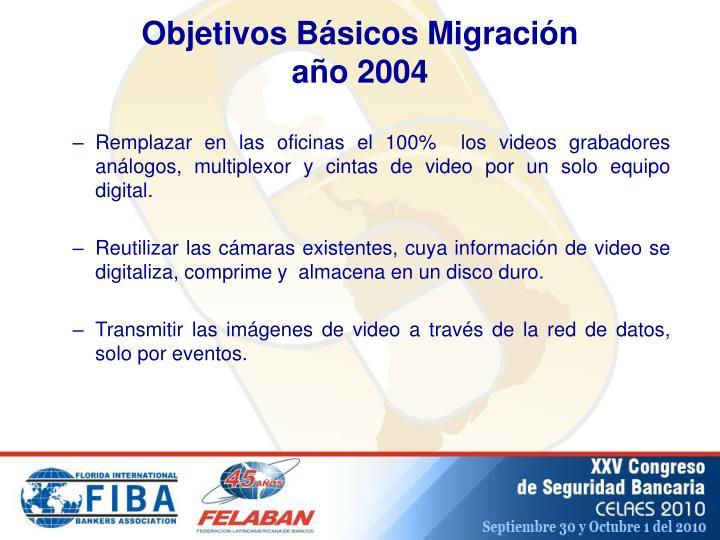 Objetivos Básicos Migración
