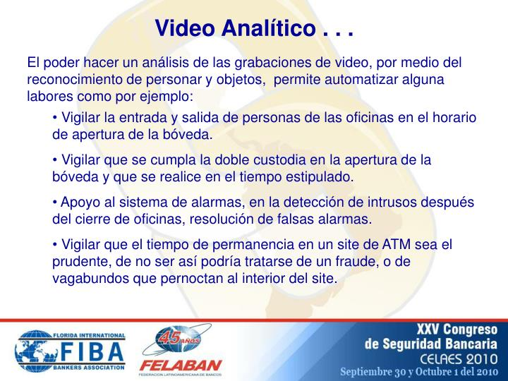 Video Analítico . . .