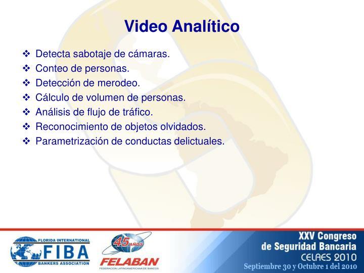 Video Analítico