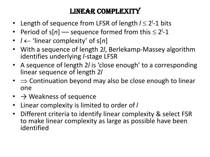 Linear complexity
