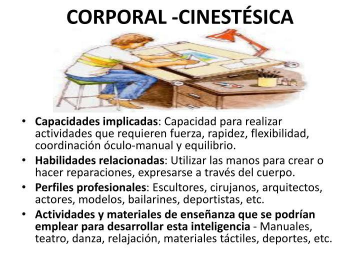 CORPORAL -CINESTÉSICA