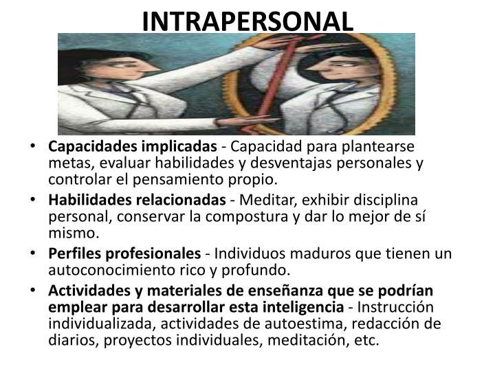 INTRAPERSONAL