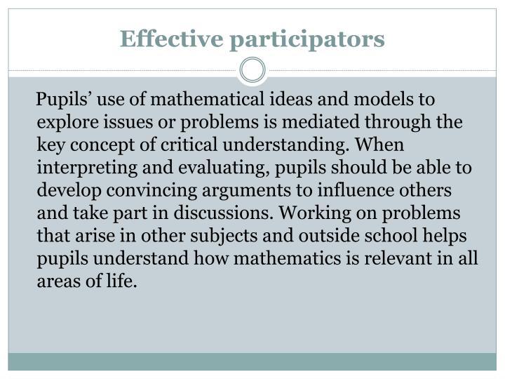 Effective participators