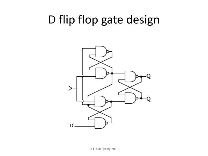 D flip flop gate design