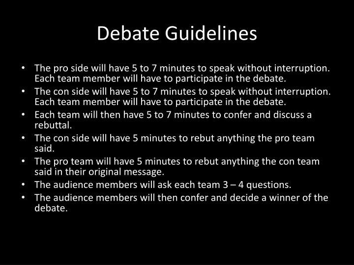 Debate Guidelines