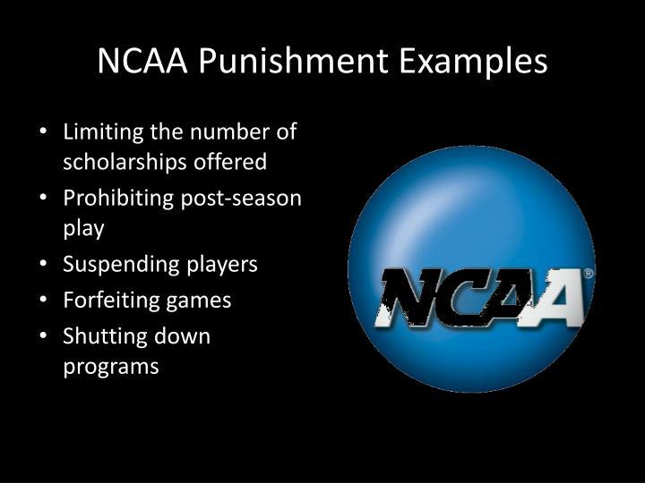 NCAA Punishment Examples