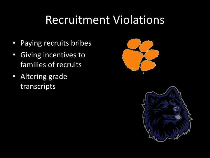 Recruitment Violations