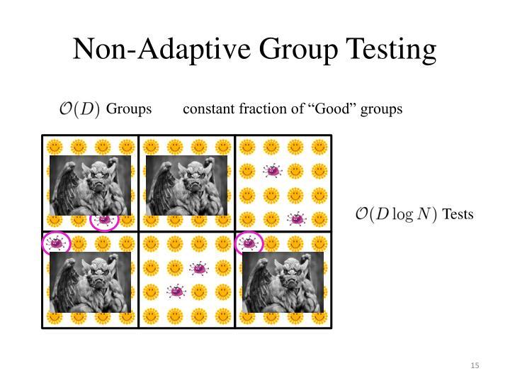 Non-Adaptive Group Testing