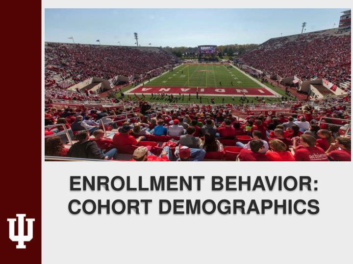 Enrollment behavior: