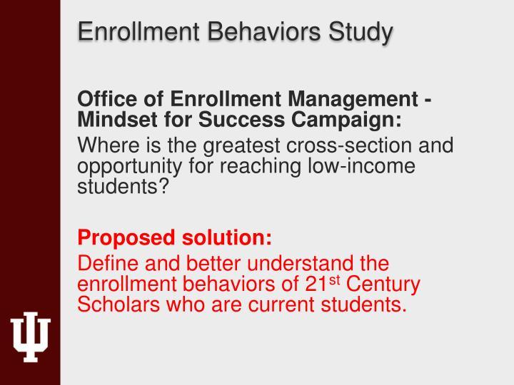 Enrollment Behaviors Study
