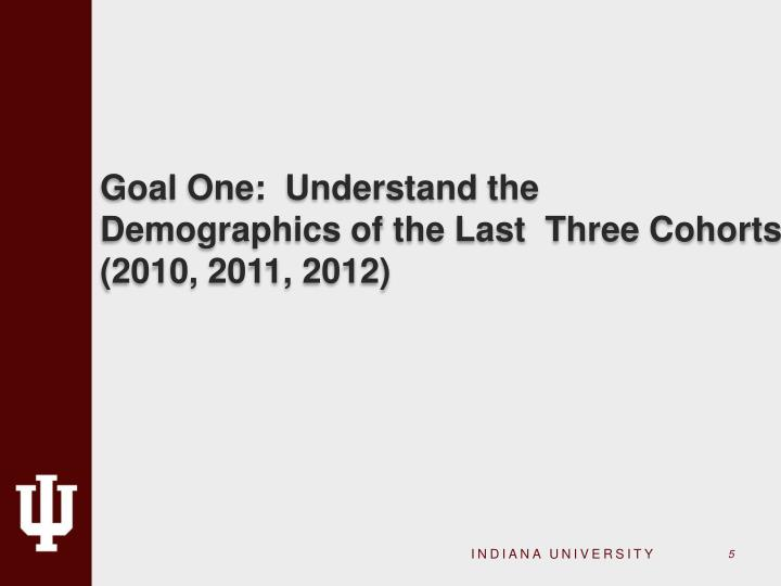 Goal One:  Understand the Demographics of the Last