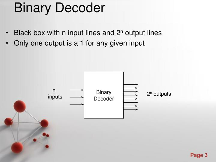 Black box with n input lines and 2