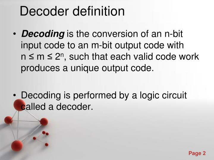 Decoder definition