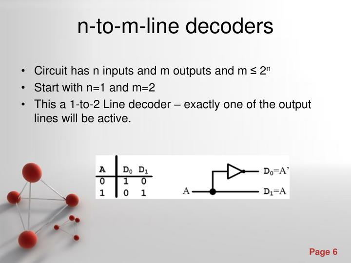 n-to-m-line decoders