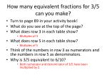 how many equivalent fractions for 3 5 can you make