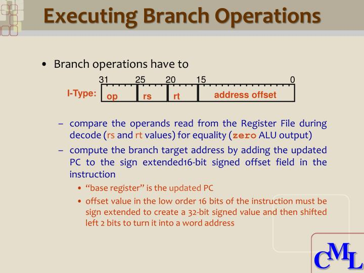 Executing Branch Operations