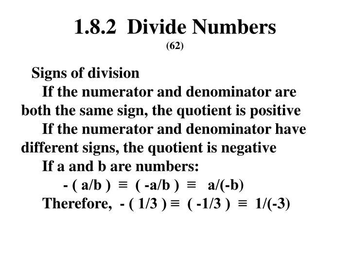 1.8.2  Divide Numbers