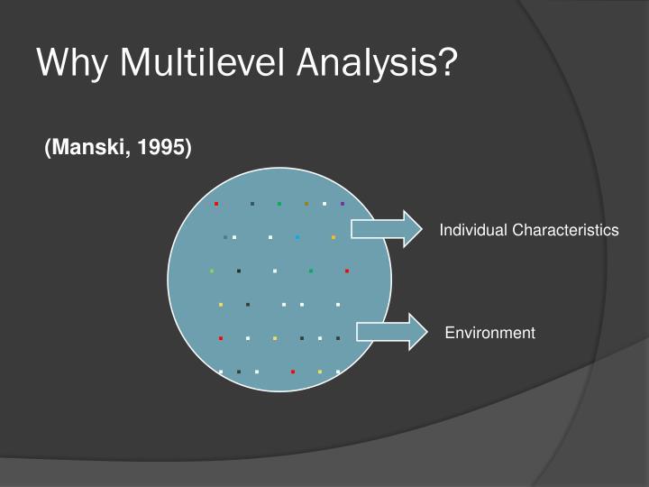 Why Multilevel Analysis?