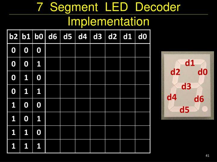 7  Segment  LED  Decoder Implementation