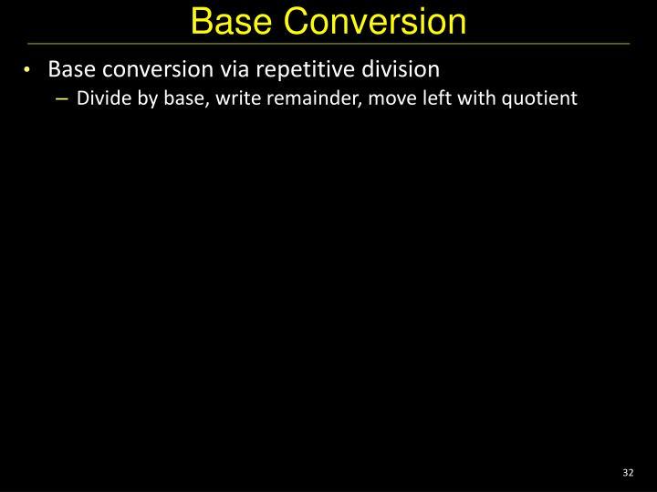 Base Conversion