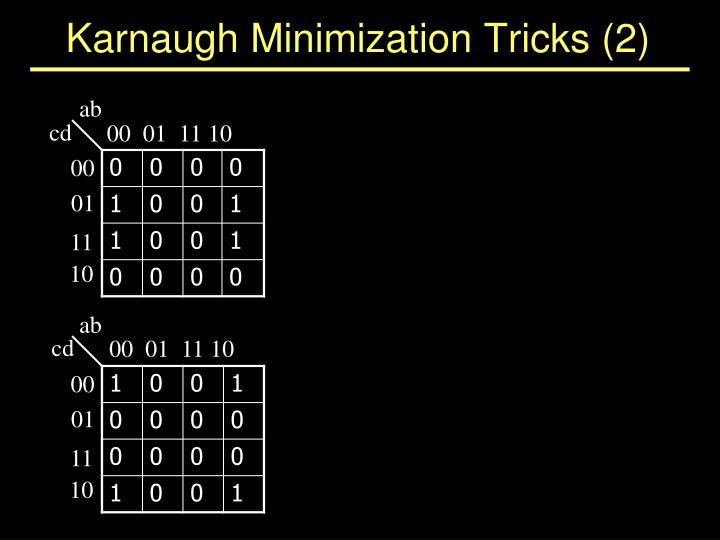 Karnaugh Minimization Tricks (2)
