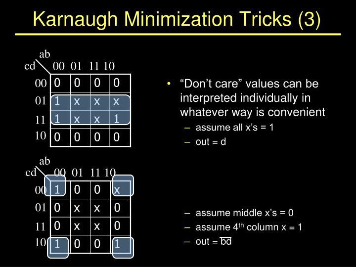 Karnaugh Minimization Tricks (3)
