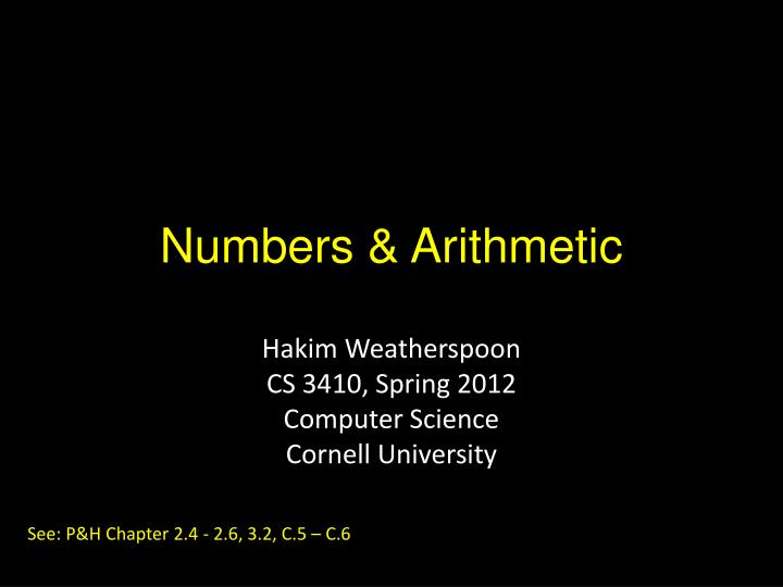 numbers arithmetic