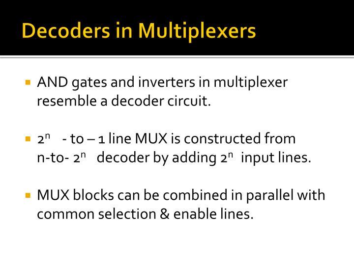 Decoders in Multiplexers
