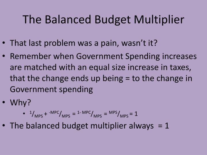 The Balanced Budget Multiplier