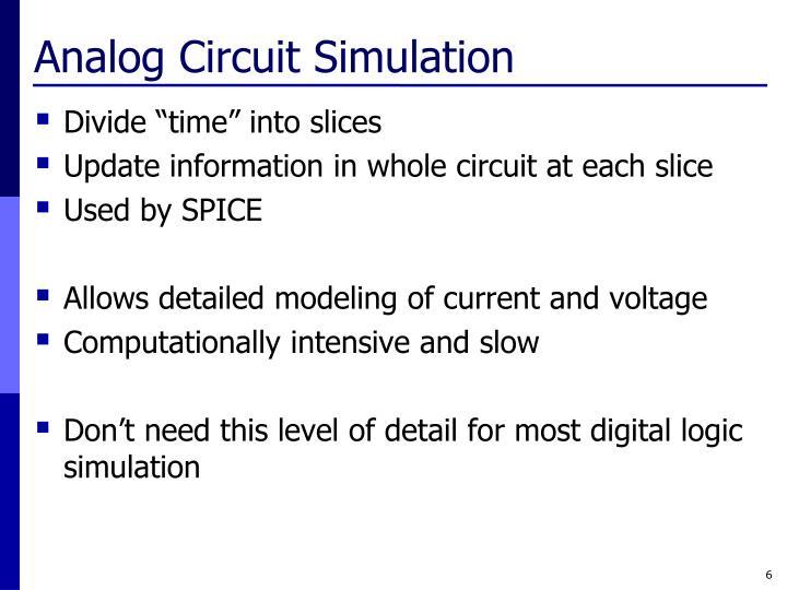 Analog Circuit Simulation