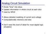 analog circuit simulation