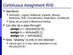 continuous assignment rhs