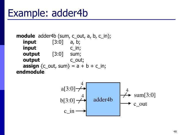 Example: adder4b