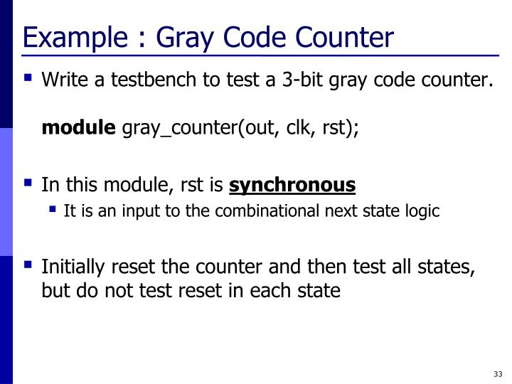Example : Gray Code Counter