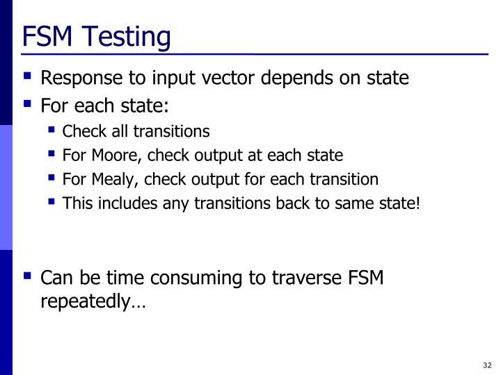 FSM Testing