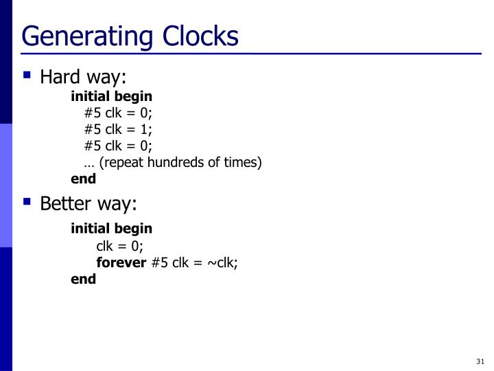 Generating Clocks